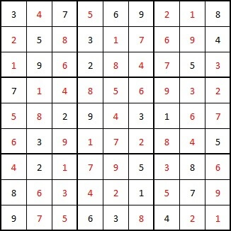 solution sudoku edition 4